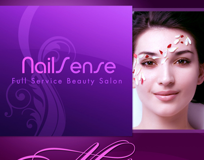 Flyers for NailSense salon