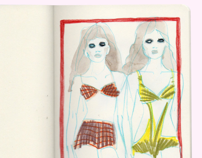 Illustrated editorial 080 Barcelona fashion week