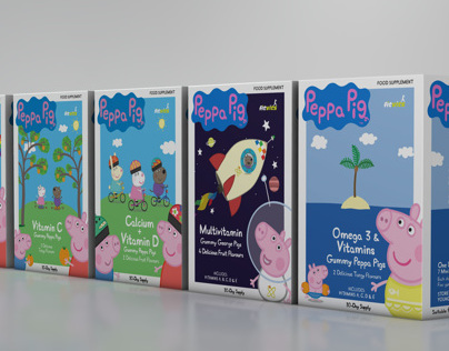 Peppa Pig Vitamins - Packaging Design