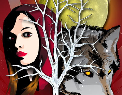Red Riding Hood Single Night Party Poster