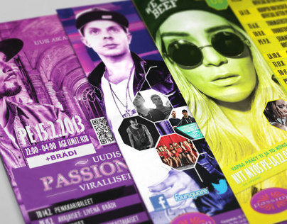 Nightclub Passion Club -Kuopio - monthly events poster