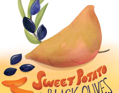 Sweet Potato + Black Olive Illo | Vegetarian Times