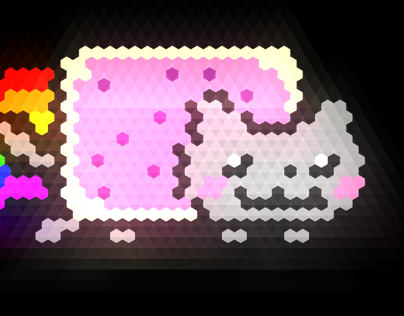 Nyancat hexagonal