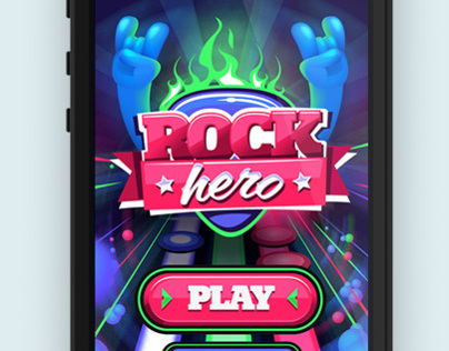Rock Hero . Mobile Game