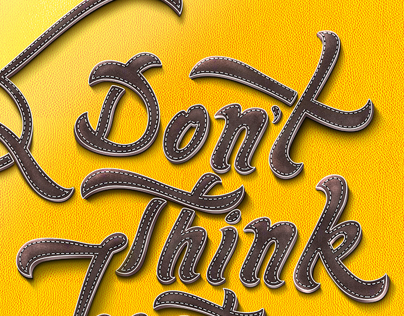 Don't Think Just Do It- Typography