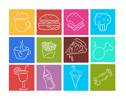 My Products:Junk Food Icons, Vegitables
