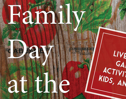 Family Day at the Market Poster