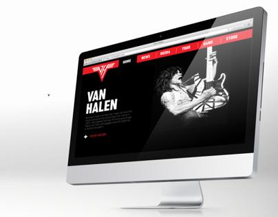 Van Halen - Website (Trabalho Acadêmico)