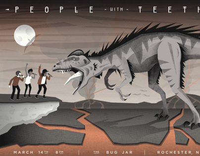 People With Teeth Gig Poster