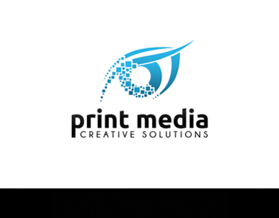 Print Media Logo Template PSD