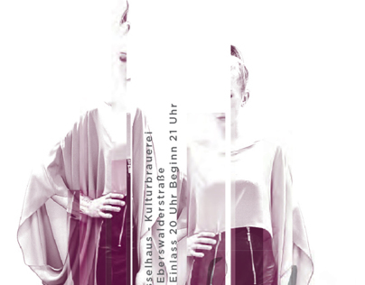 Lette-Verein final fashionshow poster
