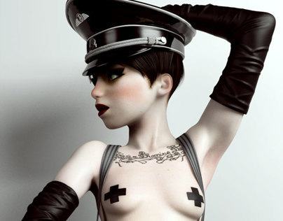 "Mistress Lili in ""The Night Porter"" (tribute)"