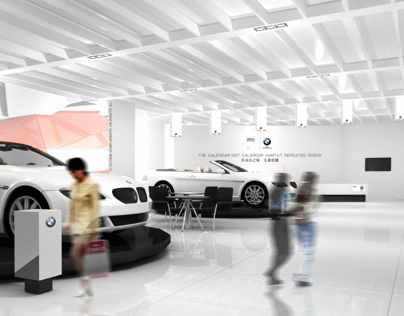 Automotive four s store image design