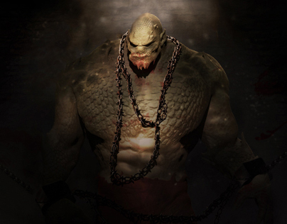 Killer Croc Arkham Origins Concept