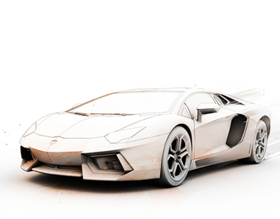Lamborghini Aventador Illustration