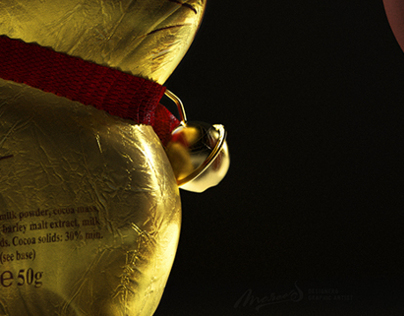 Lindt Gold Bunny /// Creative Visual and Advert