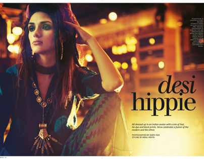 Desi Hippie for Verve Magazine, August 2013