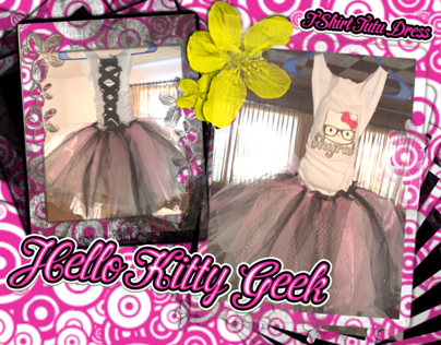 Hello Kitty Geek T-Shirt Tutu Dress