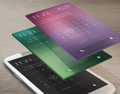 Calendar & Tasks Lock screen & interaction demo