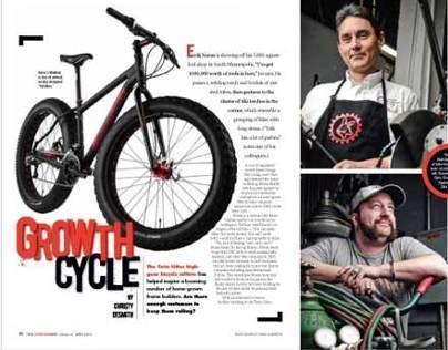 Bicycle magazine spread