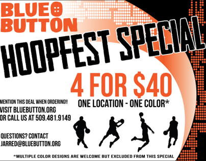 Hoopfest Ad for Blue Button