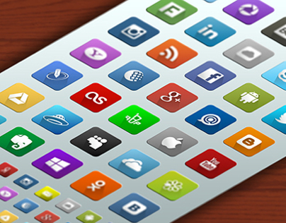 35+ Social Network Vector Icons Set