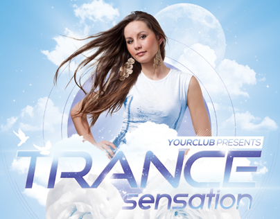 A4 Trance Sensation Party Club Flyer PSD