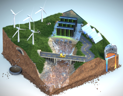 Data Center Renewable Power Animation