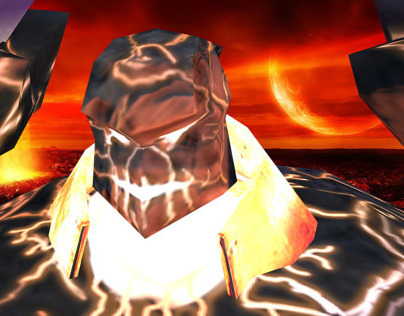 Lava Golem 3D Game Model