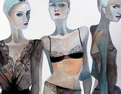 Lingerie (Gouache Paintings)