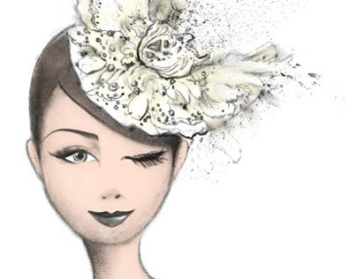 Bremen W Millinery Head Shape Fashion Illustration