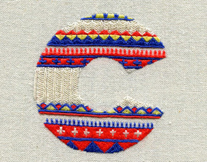 Sweater Letters - sewn alphabet