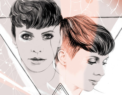Nylon illustration / Sarah Neufeld from Arcade Fire