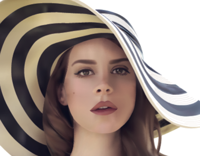LANA DEL REY PHOTO REALISTIC VECTOR IMAGE