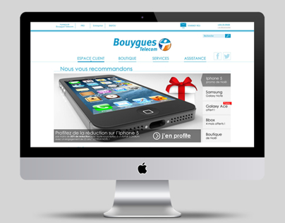 WEB DESIGN // EXO refonte site Bouygues