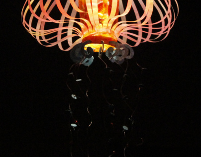 Gelly fish/Lotus: Paper lamp 2011