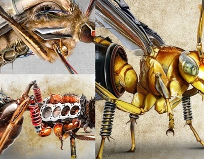 Insects - car parts mutation
