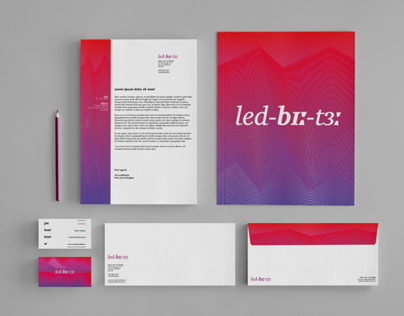 led - bɪː - tɜː - Self Promotional Branding