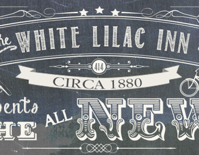 White Lilac Inn Web Launch Poster