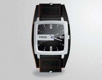 Realistic Fossil Watch - Vector