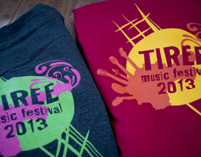 Tiree Music Festival Merchandise Design