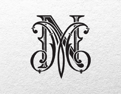 Monogram for luxury wedding