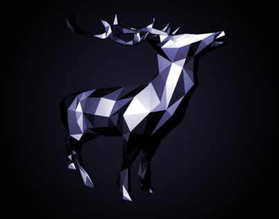 LOW POLY 3D // Deer