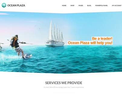 OceanPlaza WordPress Parallax Theme