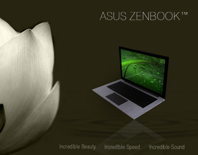 asus zen book advertising
