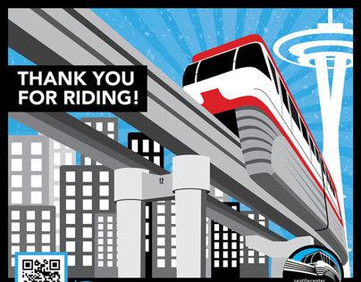 Seattle Monorail Loading Zone Signage