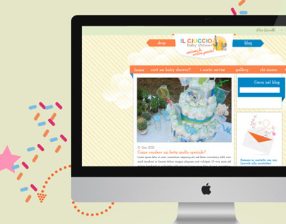 Il Ciuccio babyshower website