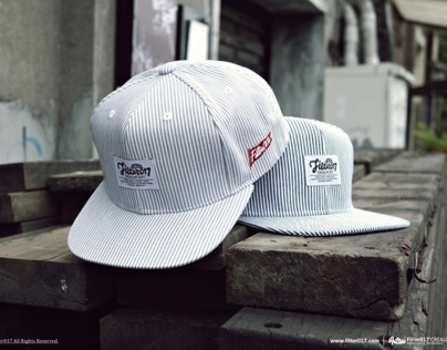 Filter017 Stripe Denim Snapback Cap