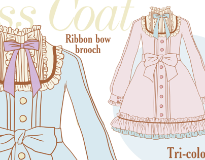 Frill & Pintuck Dress Coat