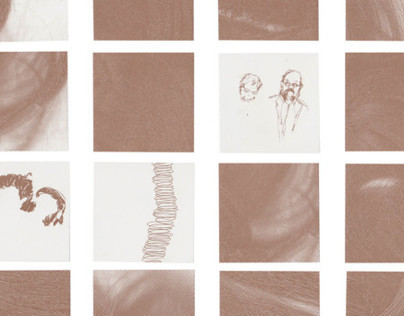 Hair Offset Print, experiment